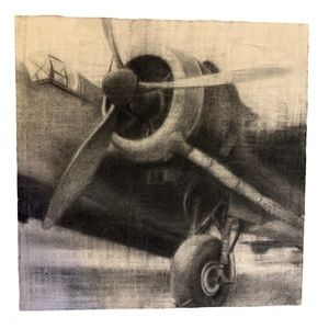 Amy Gaulin Charcoal Drawing of Old Airplane